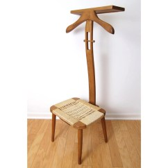 Bedroom Wardrobe Chair Valet Covers For Small Dining Chairs Mid Century Danish Modern Butler With Rope Seat