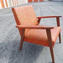 Orange Chair Salon Wingback Covers Bed Bath And Beyond Vintage Sassy Seat Mid Century Original