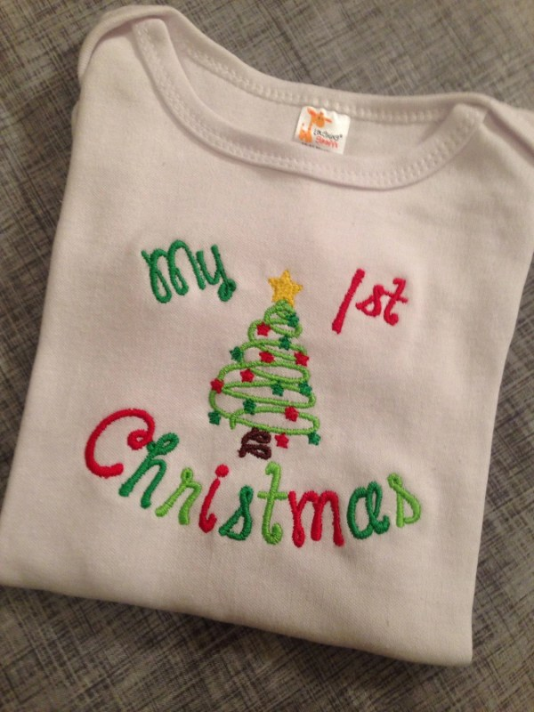 My First Christmas with Tree Onesie or TShirt by