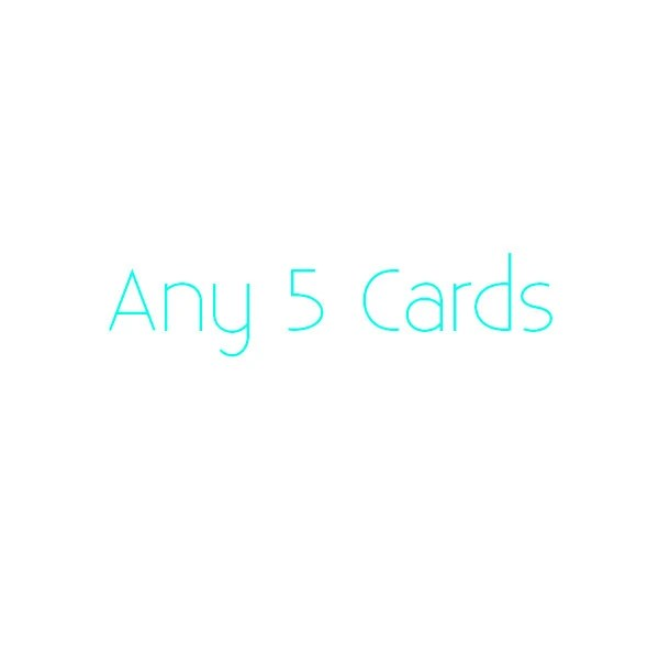 Any Five greetings cards ...
