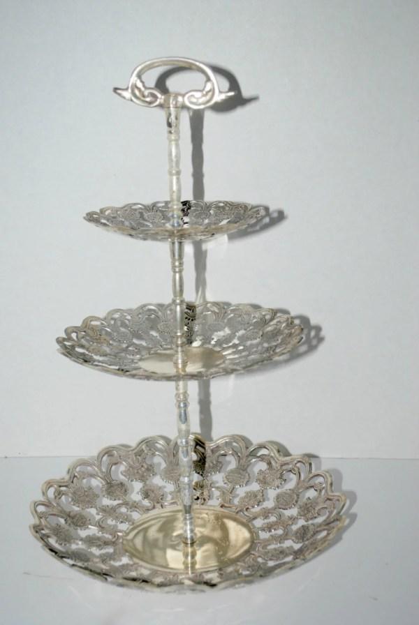 Dessert Stand Silver Plate 3 Tier
