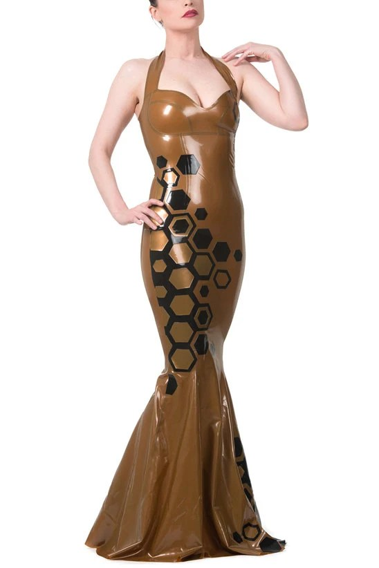 Queen Bee Latex Gown by VitalVeinFashion on Etsy