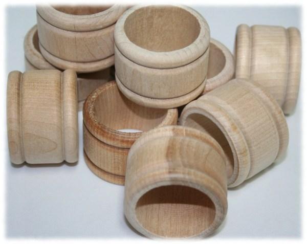 Wood Napkin Ring Holders