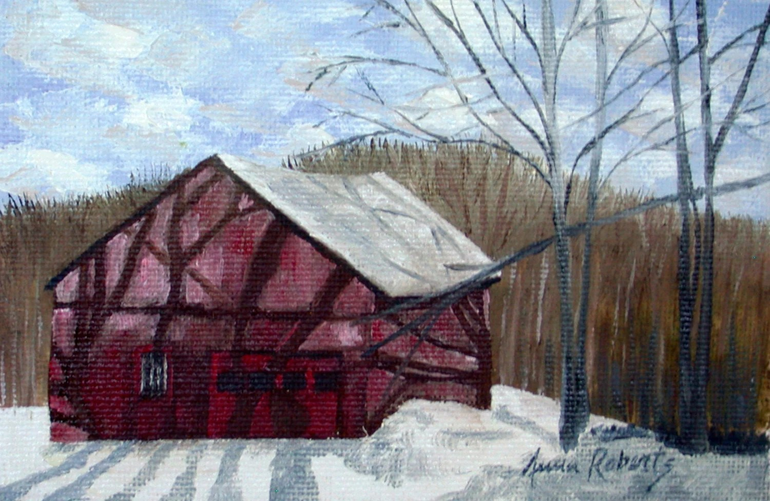 Painting Red Barn Etsy