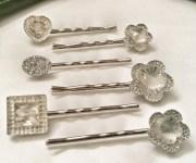 heart bobby pins decorative hair