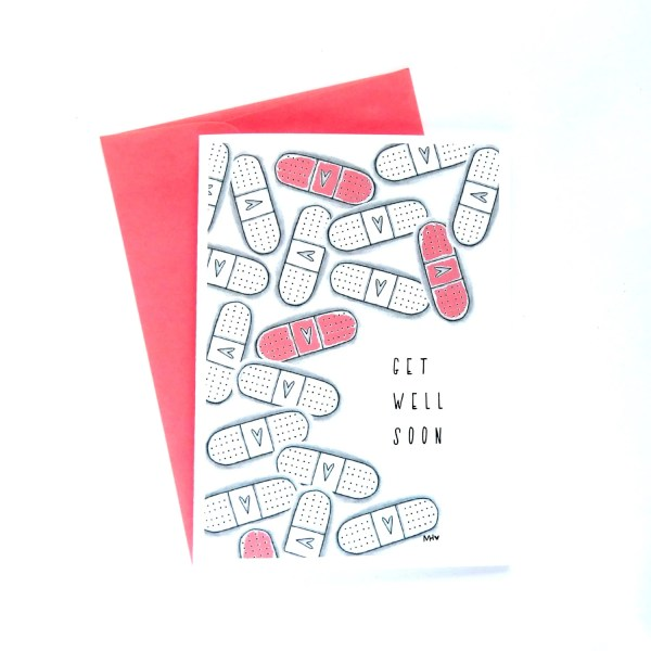Items similar to Get Well Soon Card Cute Get Well Card