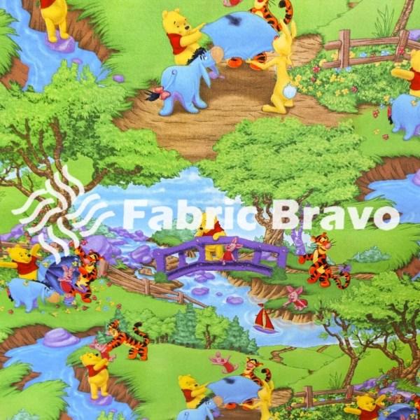 Disney Winnie Pooh Riverside 100 Percent Cotton Fabric