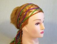 hippie head scarves chain crochet headband boho head scarf ...