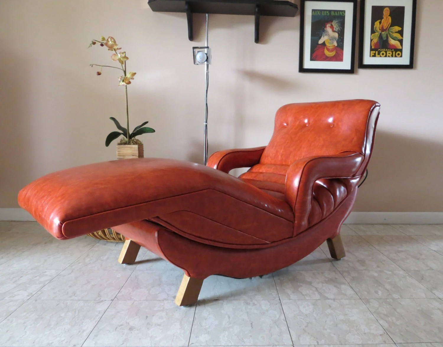 Mid Century Lounge Chair Mid Century Modern Contour Lounge Chair Reclining Massage