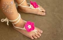 Crochet Flower Barefoot Sandals Gocrochetcreations