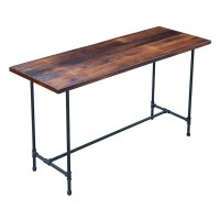 Industrial Style Desk with Reclaimed Oak and by ...