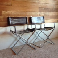 Mid Century Chrome Director Chairs