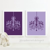 Purple Chandelier Duo French. Wall. Art. Home. Decor. Baby