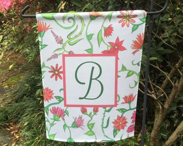 Garden Flag Personalized Decor With Initial