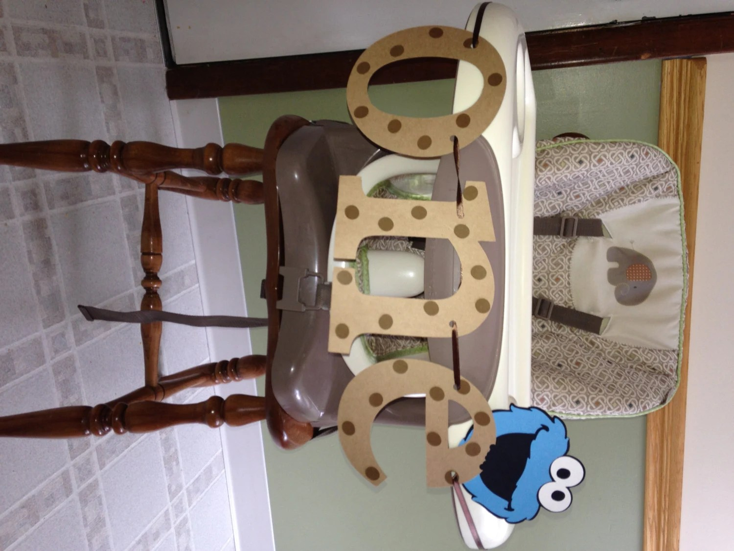 high chair decorations 1st birthday boy ergonomic melbourne cookie monster banner child 39s