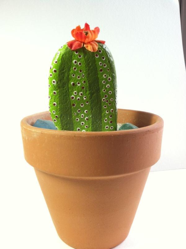 cactus dish garden-hand painted