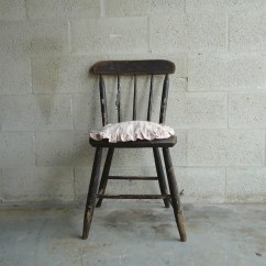 Black Spindle Chair Hanging Acnl Vintage Solid Wood Back Primitive Windsor