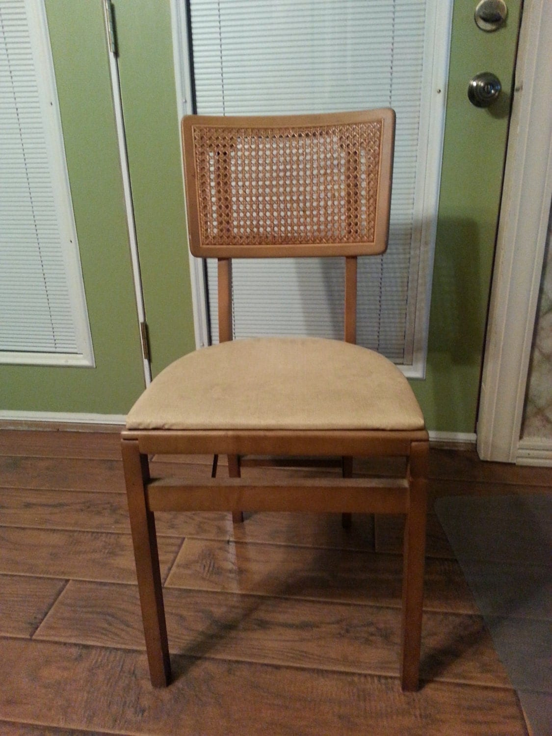 Vintage Cane Back Chairs Reserved Vintage Stakmore Folding Chair Cane Back Wood