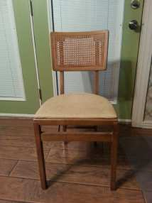 Reserved Vintage Stakmore Folding Chair Cane Wood