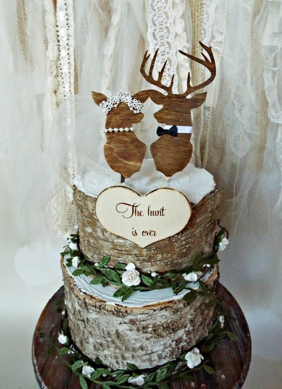 Fall Hunting Wallpaper Deer Wedding Buck And Doe Wedding Cake Topper Deer Lover Bride