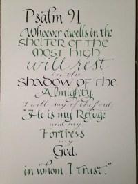 Psalm 91 Wall Art Scripture Art Bible Verse by