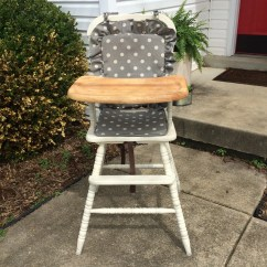 Wooden High Chair Cushion Round Top Table And Chairs Highchair Cover Pad