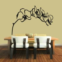 Orchid Branch Wall Decals Orchid Flower Stickers Living Room
