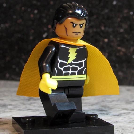 Custom BLACK ADAM Lego size Minifigure with Shazam effect