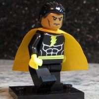 Custom BLACK ADAM Lego size Minifigure with Shazam effect