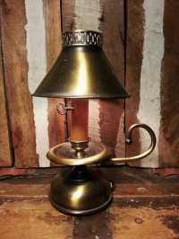 Vintage Antique Brass Tone Metal Oil Lamp Genie by ...