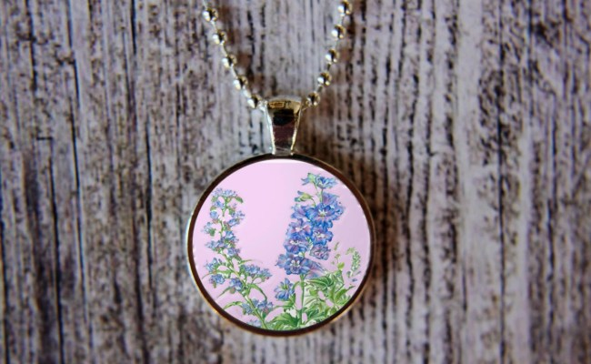 Birthday Necklace Birth Flowers Necklace Floral Jewelry