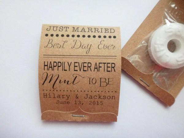 Wedding Mint Lifesaver Matchbook Favors Happily