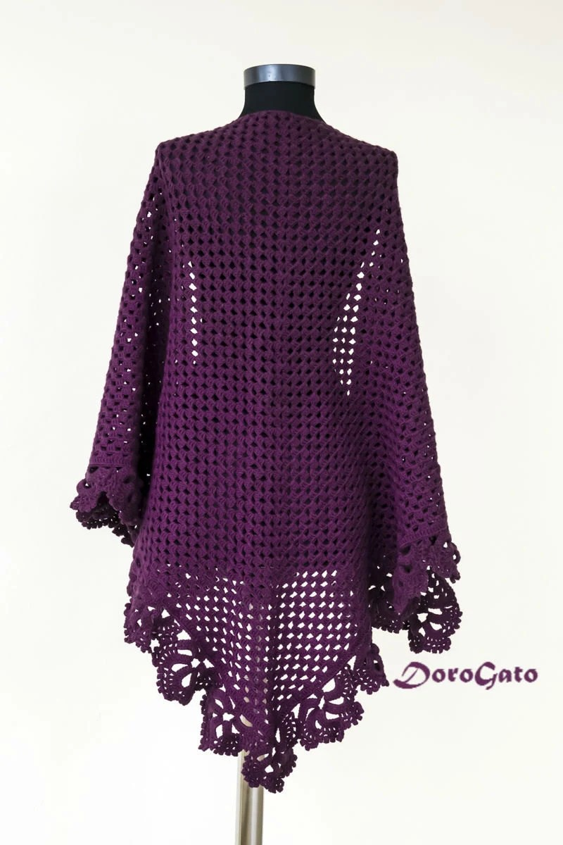 Crochet Shawl Patterns With Diagrams Shawl Crochet Free Pattern