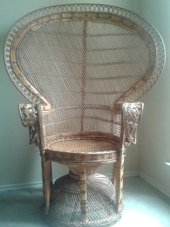 rattan peacock chair hide a bed twin size wicker   home decor