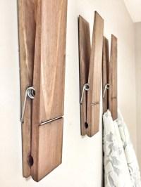 SUPER HUGE Jumbo Rustic 12 Decorative Clothespin in dark
