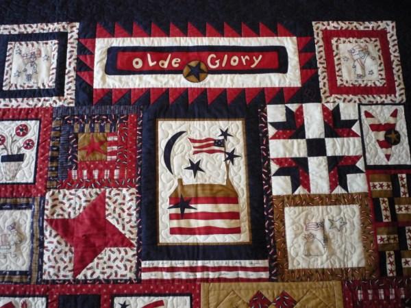 Glory Sampler Wall Quilt.original Design.americana