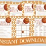 Basketball Baby Shower Game Pack Instant By Celebrateitparties