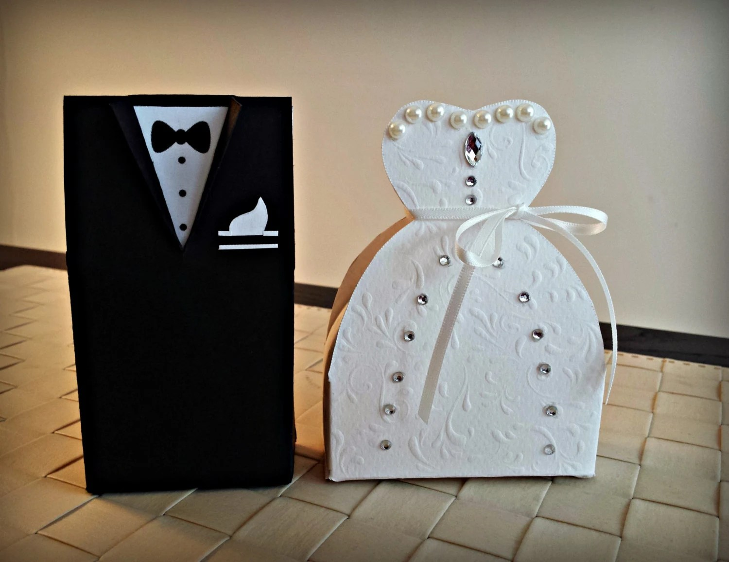 Bride And Groom Favor Boxes. Wedding Favor Boxes. By
