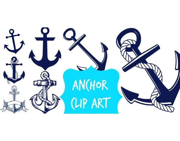 anchor clip art navy blue