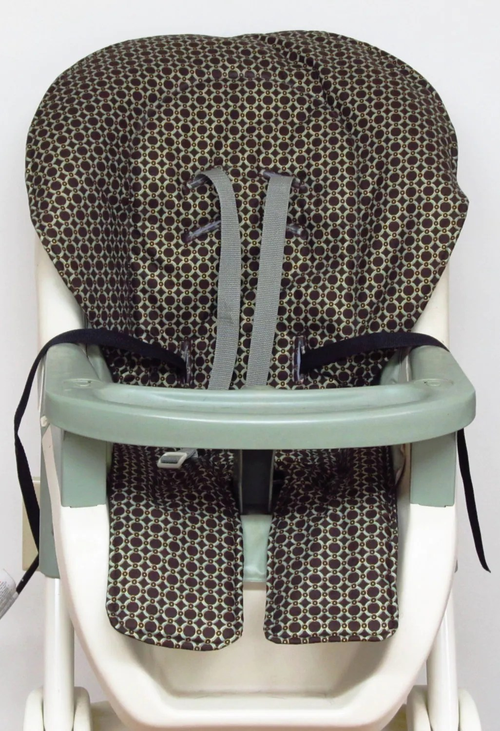 graco high chair cover replacement dayton factory pad gold rimmed green
