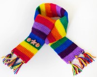 Stripy Rainbow Eco Scarf for Kids Children's Colourful