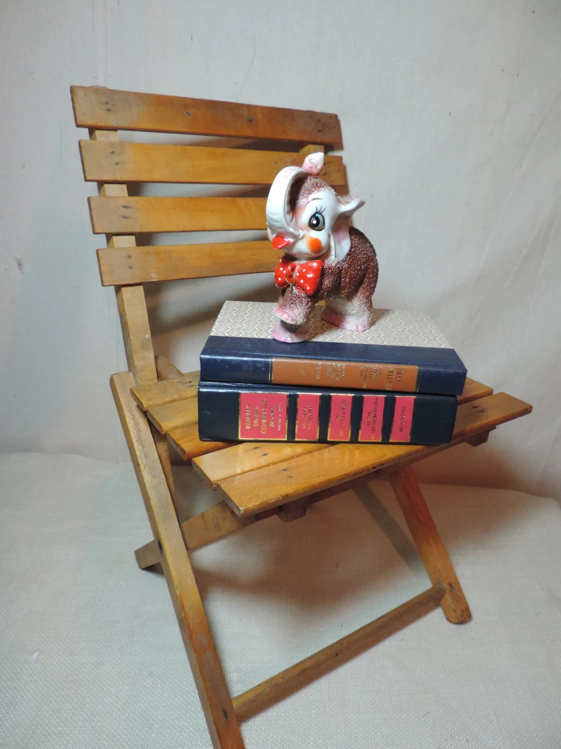 Fold Up Chairs Vintage Childs Chair Wood Chair Fold Up Chair By Bluejeanjulie