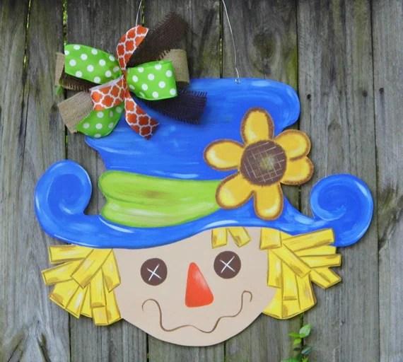 Scarecrow Door Hanger Fall Door Hanger Thanksgiving
