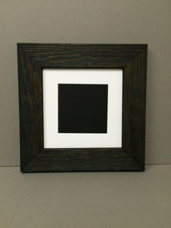 10x10 Square Rustic Black Frame With White Mat