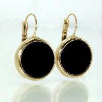 Black Onyx Drop Earrings Gemstone Earrings Dangle black