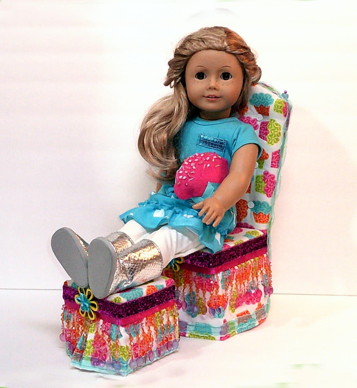 monster high bean bag chair simply bows and covers cumbria sale ooak cupcake 18 doll ottoman set