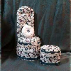 Hello Kitty Desk Chair Leather Papasan And Ottoman Set For American Girl