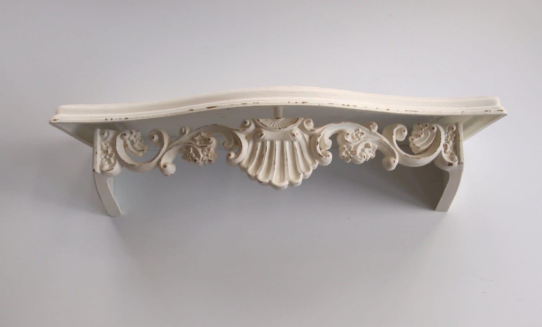 Wall Shelf Vintage Ornate Shabby Chic Ivory White