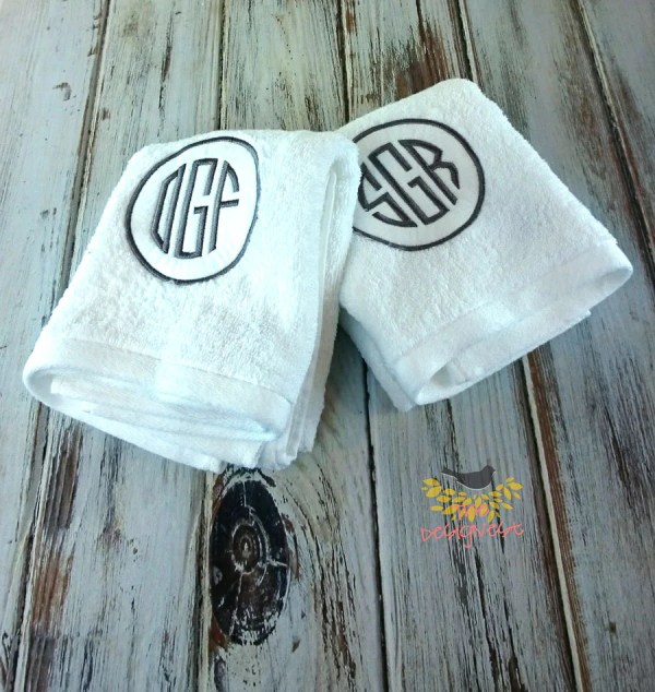 Monogrammed Towels Hand Thedesignest