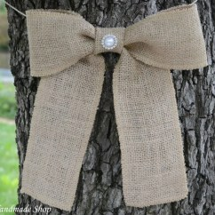 Burlap Bows For Wedding Chairs Best Office Chair 12 Hours Pew Wreath Bow